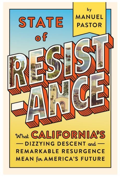 ABOUT STATE OF RESISTANCE - BY MANUEL PASTOROnce upon a time, any mention of California triggered unpleasant reminders of Ronald Reagan and right-wing tax revolts, ballot propositions targeting undocumented immigrants, and racist policing that sparked two of the nation's most devastating riots. California confronted many of the challenges the rest of the country faces now--decades before the rest of us.Today, California is leading the way on addressing climate change, low-wage work, immigrant integration, over-incarceration, and more. As white residents became a minority and job loss drove economic uncertainty, California had its own Trump moment twenty-five years ago, but has become increasingly blue over each of the last seven presidential elections.How did the Golden State manage to emerge from its unsavory past to become a bellwether for the rest of the country?Thirty years after Mike Davis's hellish depiction of California in City of Quartz, the award-winning sociologist Manuel Pastor guides us through a new and improved California, complete with lessons that the nation should heed. Inspiring and expertly researched, State of Resistance makes the case for honestly engaging racial anxiety in order to address our true economic and generational challenges, a renewed commitment to public investments, the cultivation of social movements and community organizing, and more.