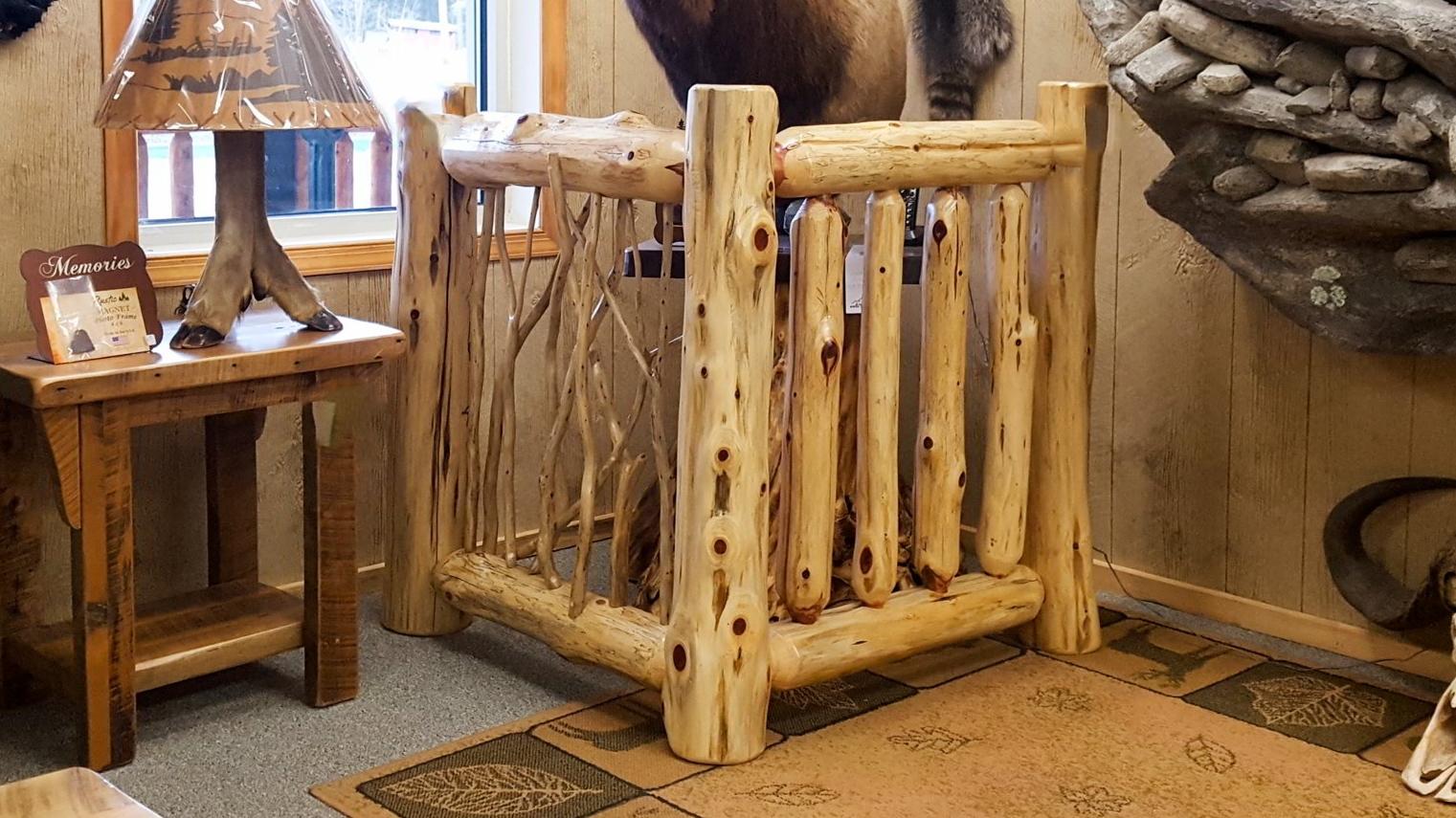 Log Railing -