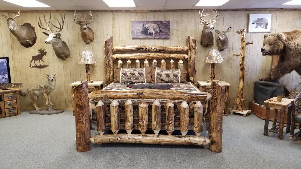 Grand Aspen Bed Ez Mountain Rustic, Rustic Mountain Furniture