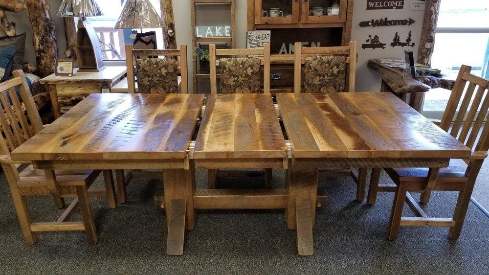 Barnwood Dining Table Ez Mountain Rustic Furniture