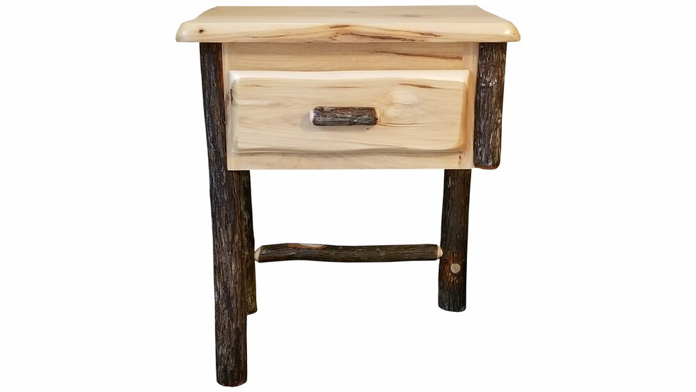hickory 1 drawer floating nightstand