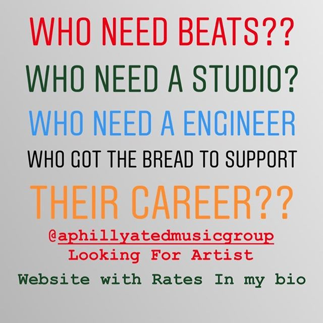 Can you book studio time? We Offer A LOT!!!! #SignUpNow @aphillyatedmusicgroup x @prodbyaphillyated