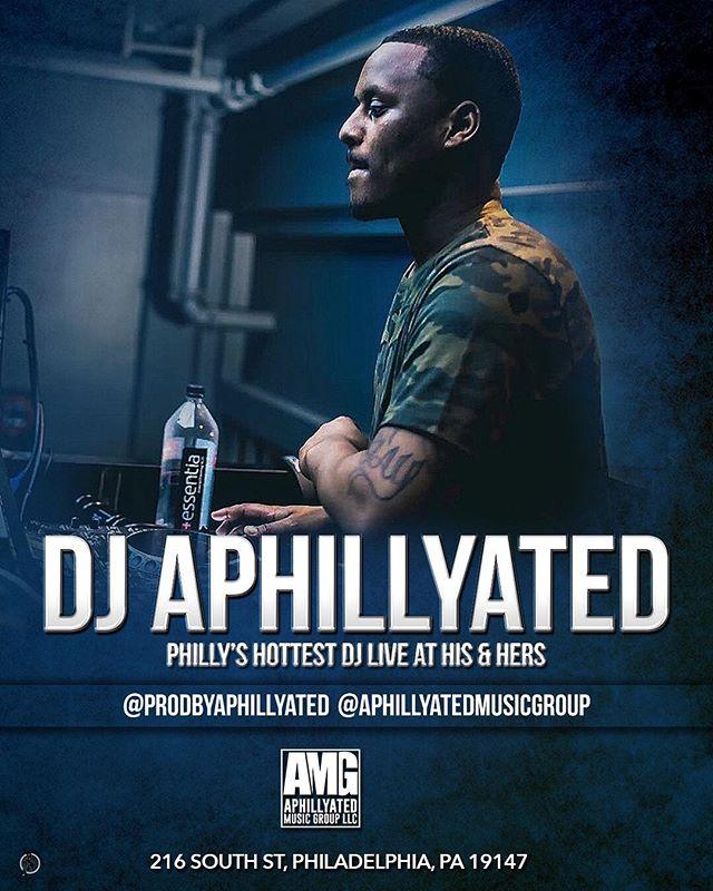 EACH & EVERY FRIDAY ‼️‼️Check Out @prodbyaphillyated spinning LIVE.. . . #AMG #Aphillyated #ClubDj #BestDj #NewYork #Canada  #HisnHersOfficialDj #Nigeria #Japan #Philly #DjLife #Vegas #NightLife #ConcertDj #TourDj #SeratoDj #Dubai #Apple #MixKing #Blend
