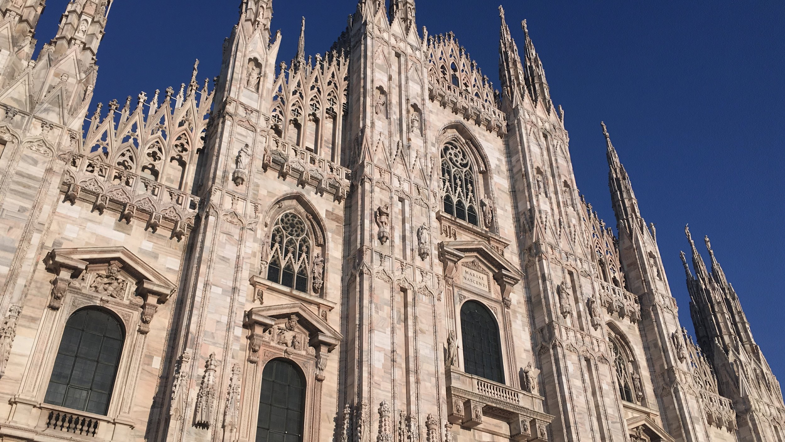 Milan is a stunning city - the Duomo looked glorious in the Italian sunshine.