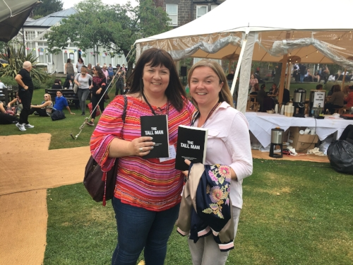 Me (Left) with fellow Wildfire author Karen Hamilton, proudly showing off the proofs we bagged of The Tall Man (Phoebe Locke)