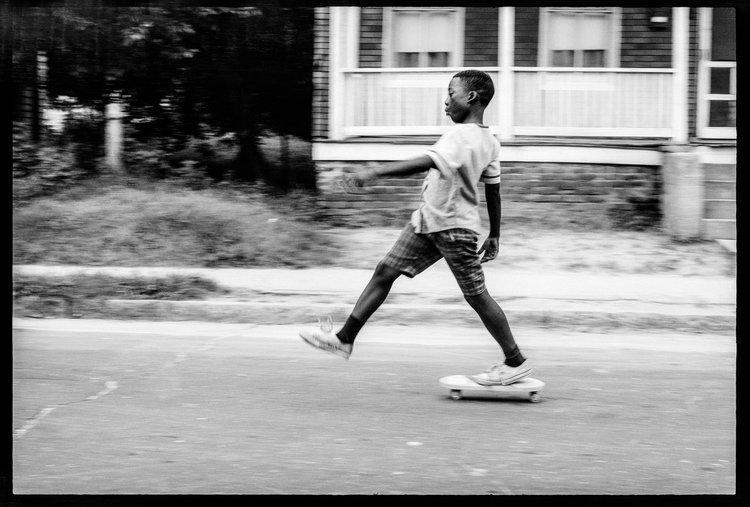 USA. Norfolk, Va. 1966. Skateboarding. From the series Tell It Like It Is.