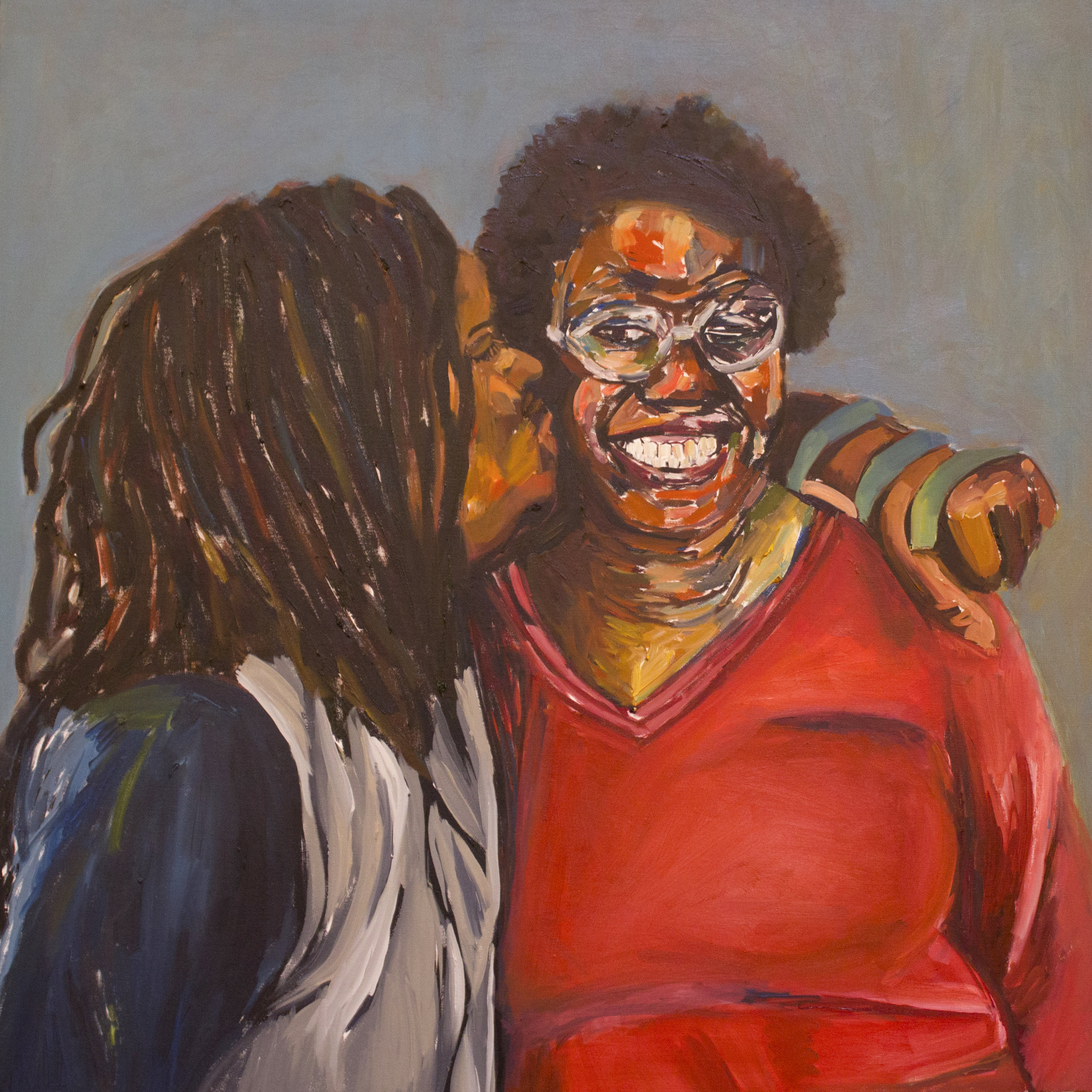 """""""Sisters"""" Painting by Beverly Mciver, photo by libby o'daniel"""