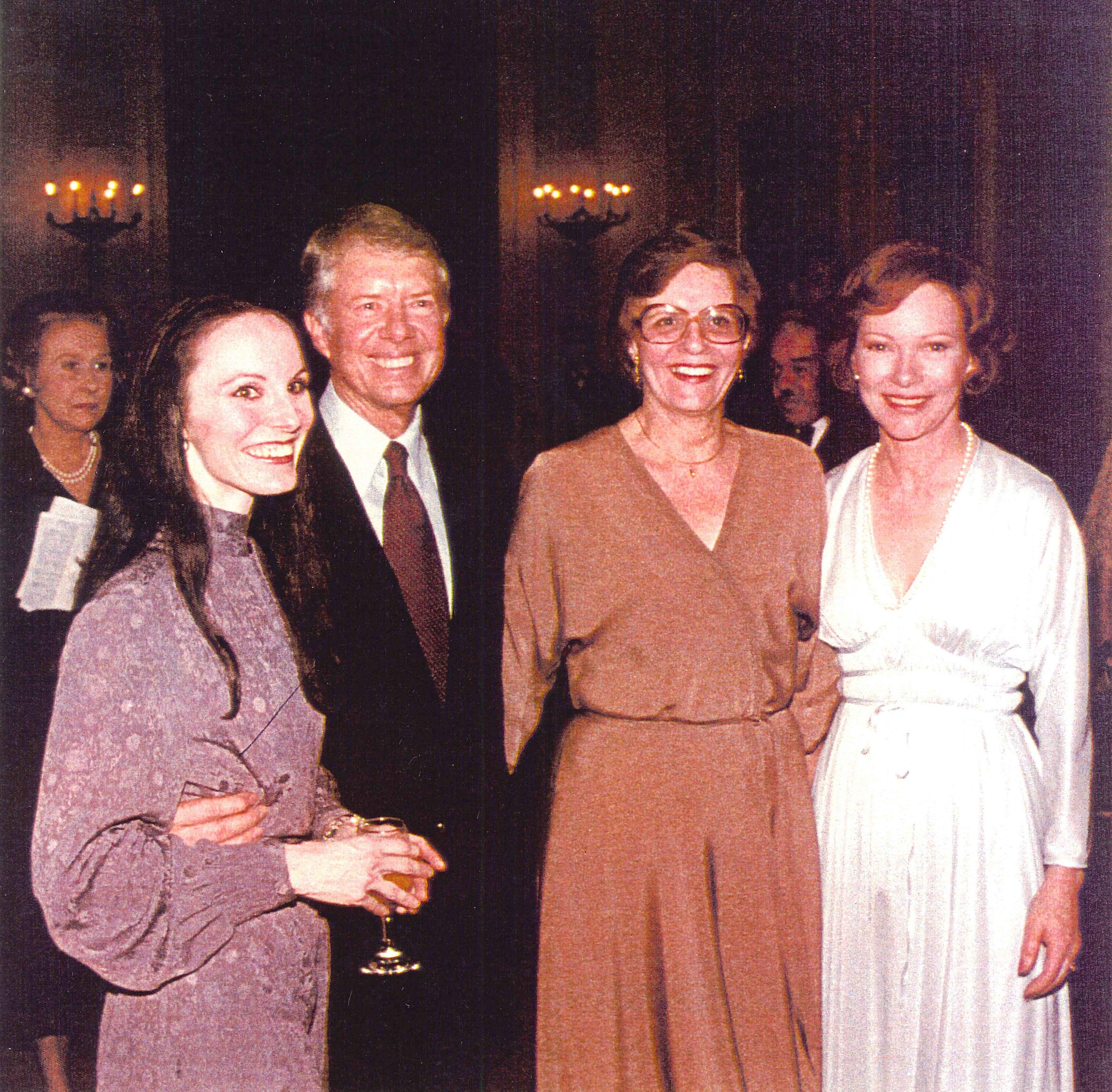 Patricia McBride with President Jimmy Carter, her mother vand Mrs. Carter.jpg
