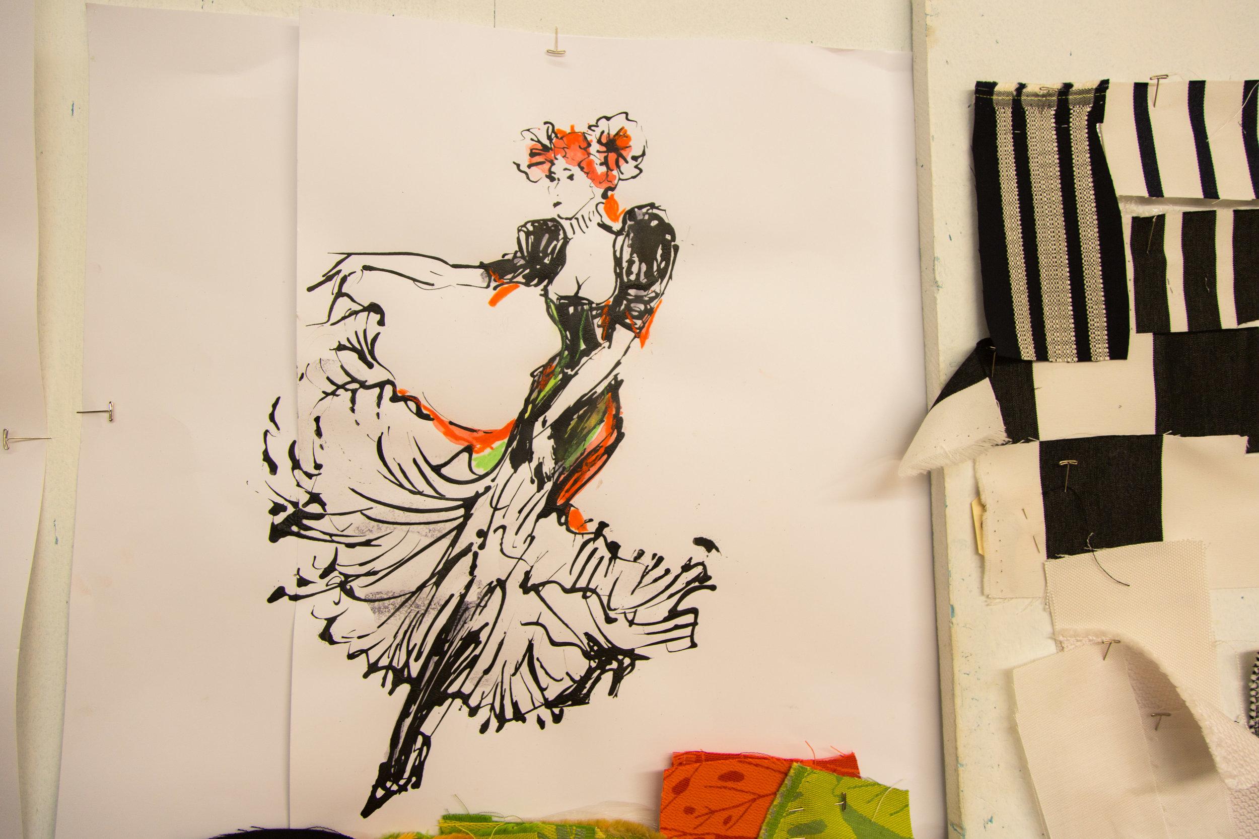 SKETCH INSPIRED BY HENRI DE TOULOUSE-LAUTREC