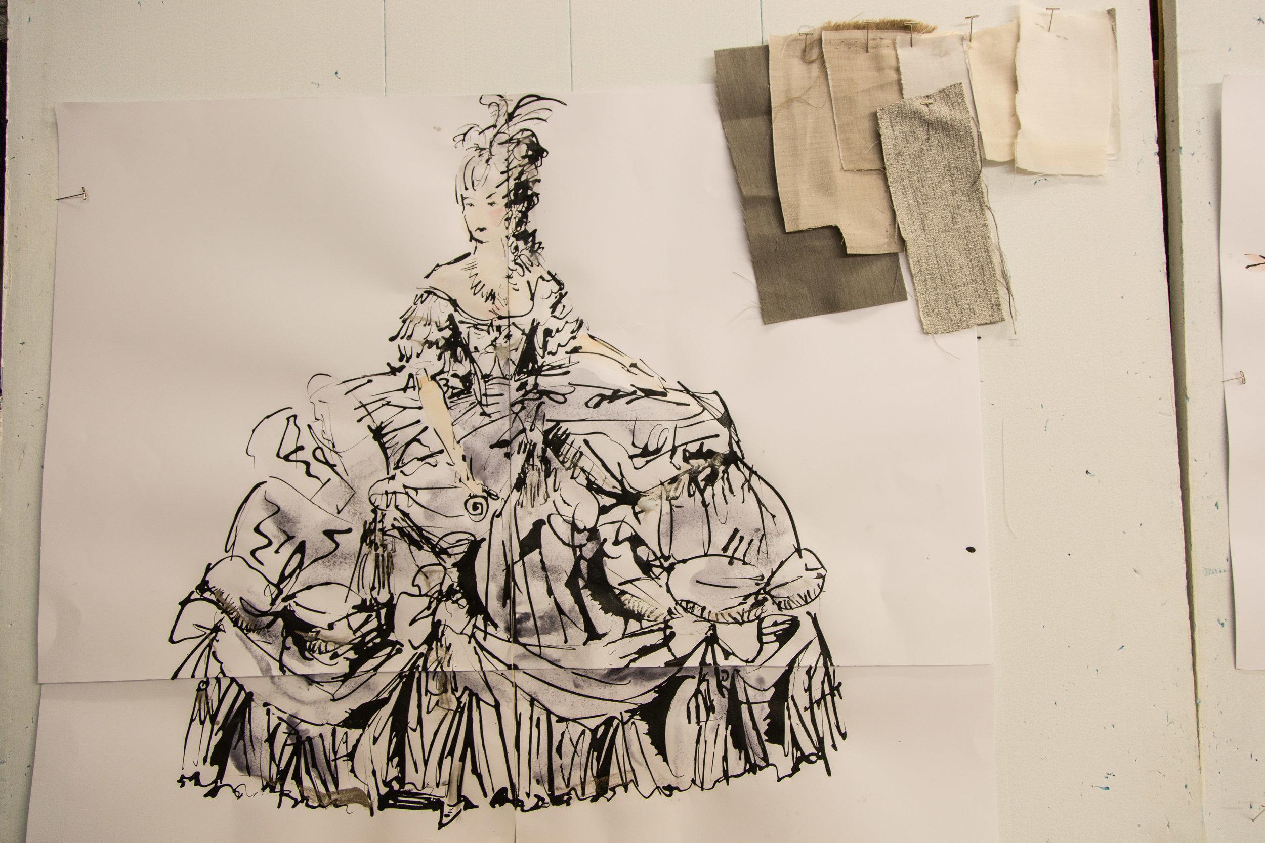 SKETCH INSPIRED BY ELISABETH VIGEE-LEBRUN
