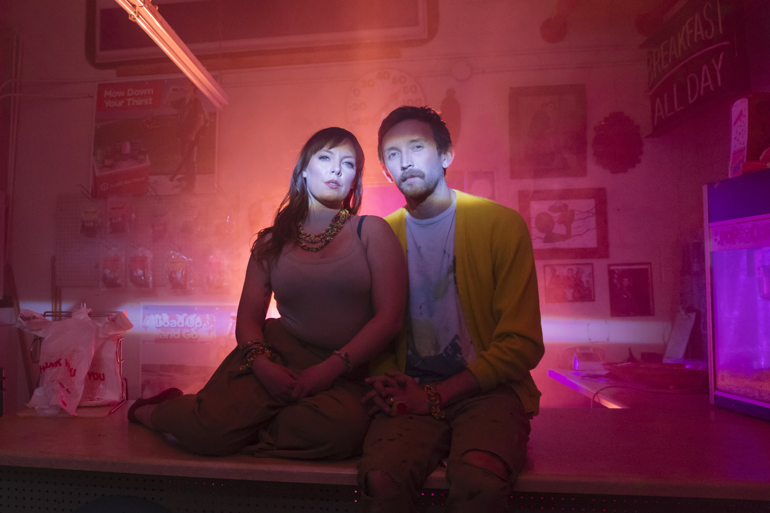 Portrait of sylvan esso by Lindsey Kennedy and Meow Wolf