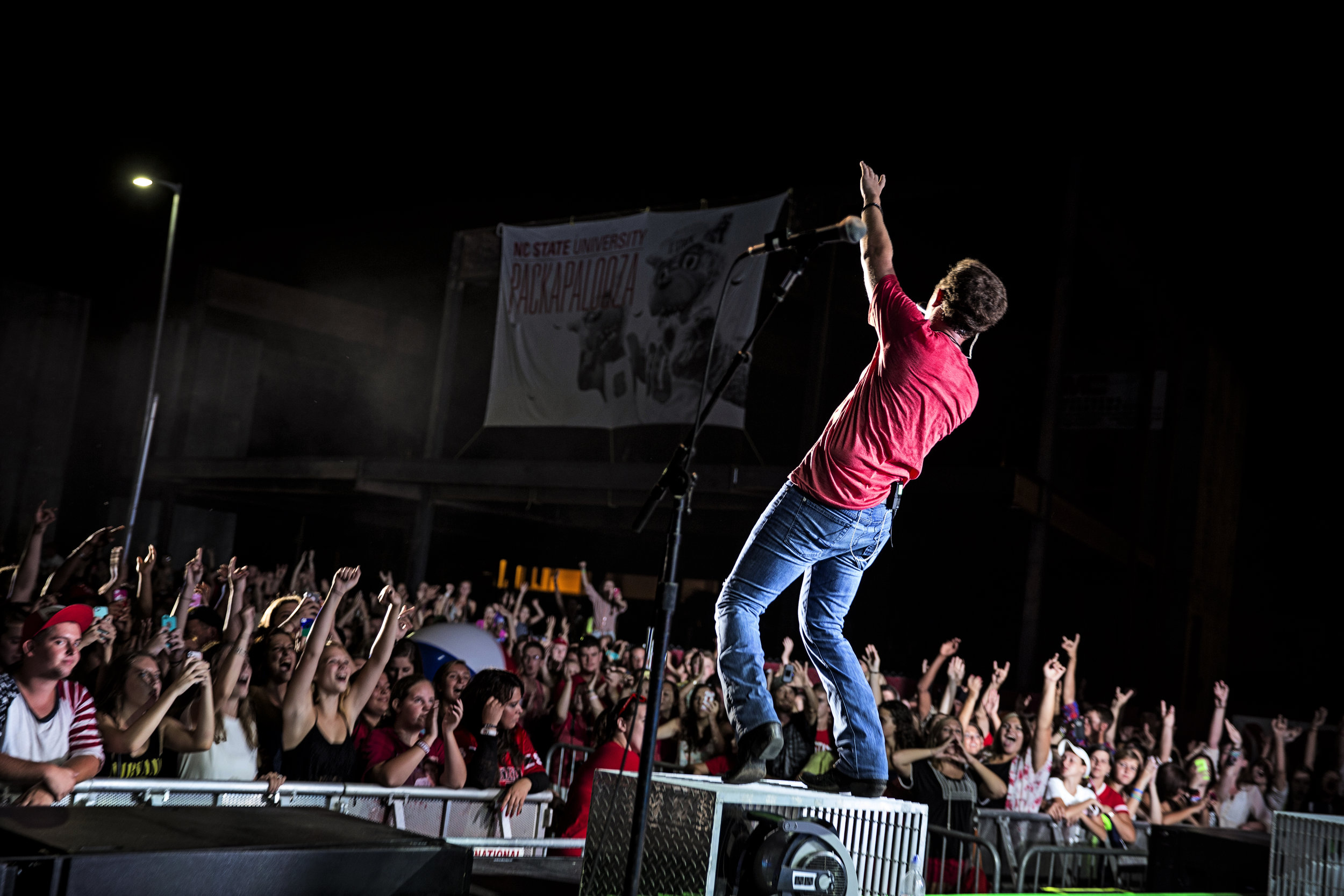 Scotty performs at N.C. State's Pack-a-Palooza | Photo by Eric Adkins