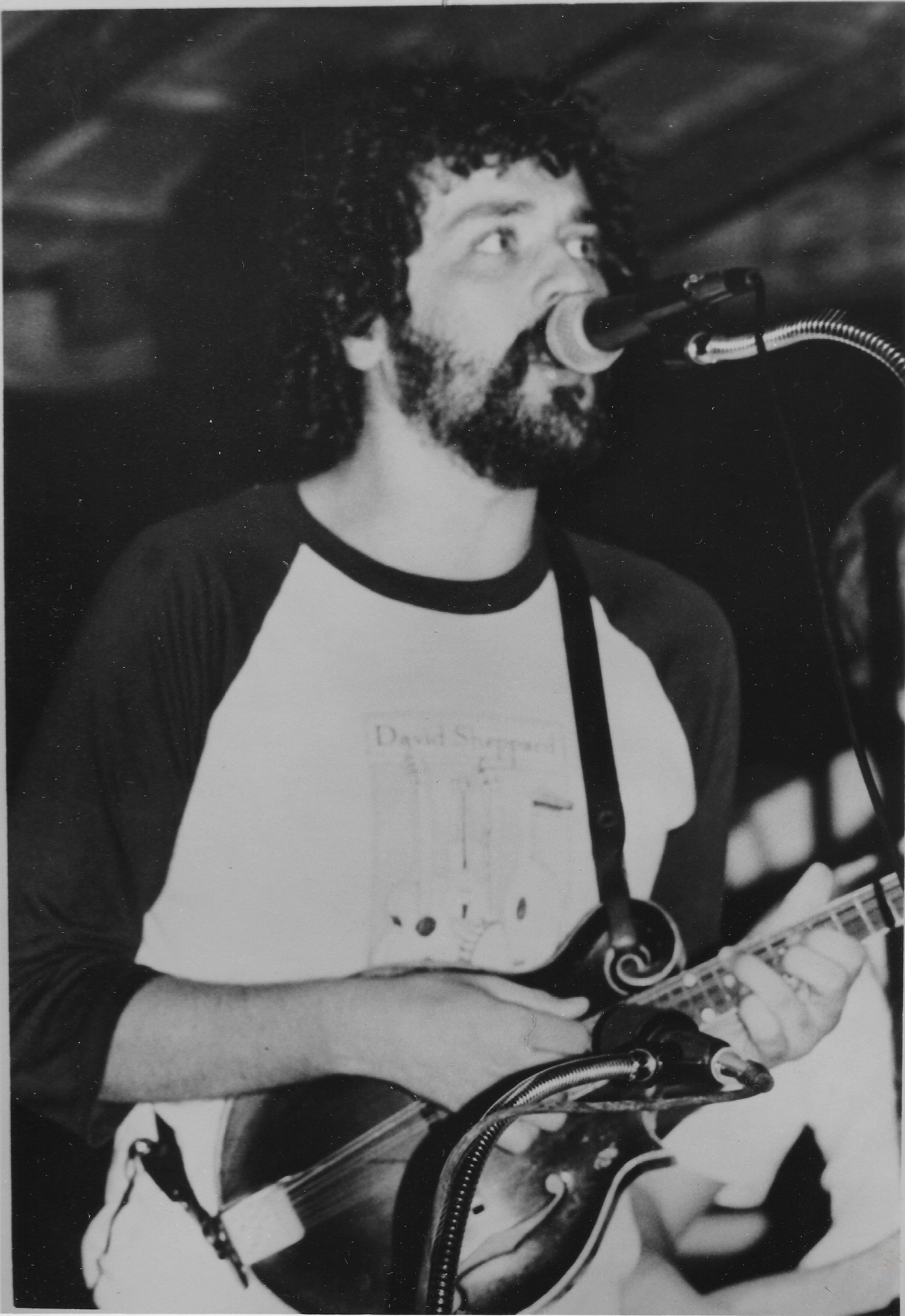 Tony Williamson and his Mandolin in 1981.