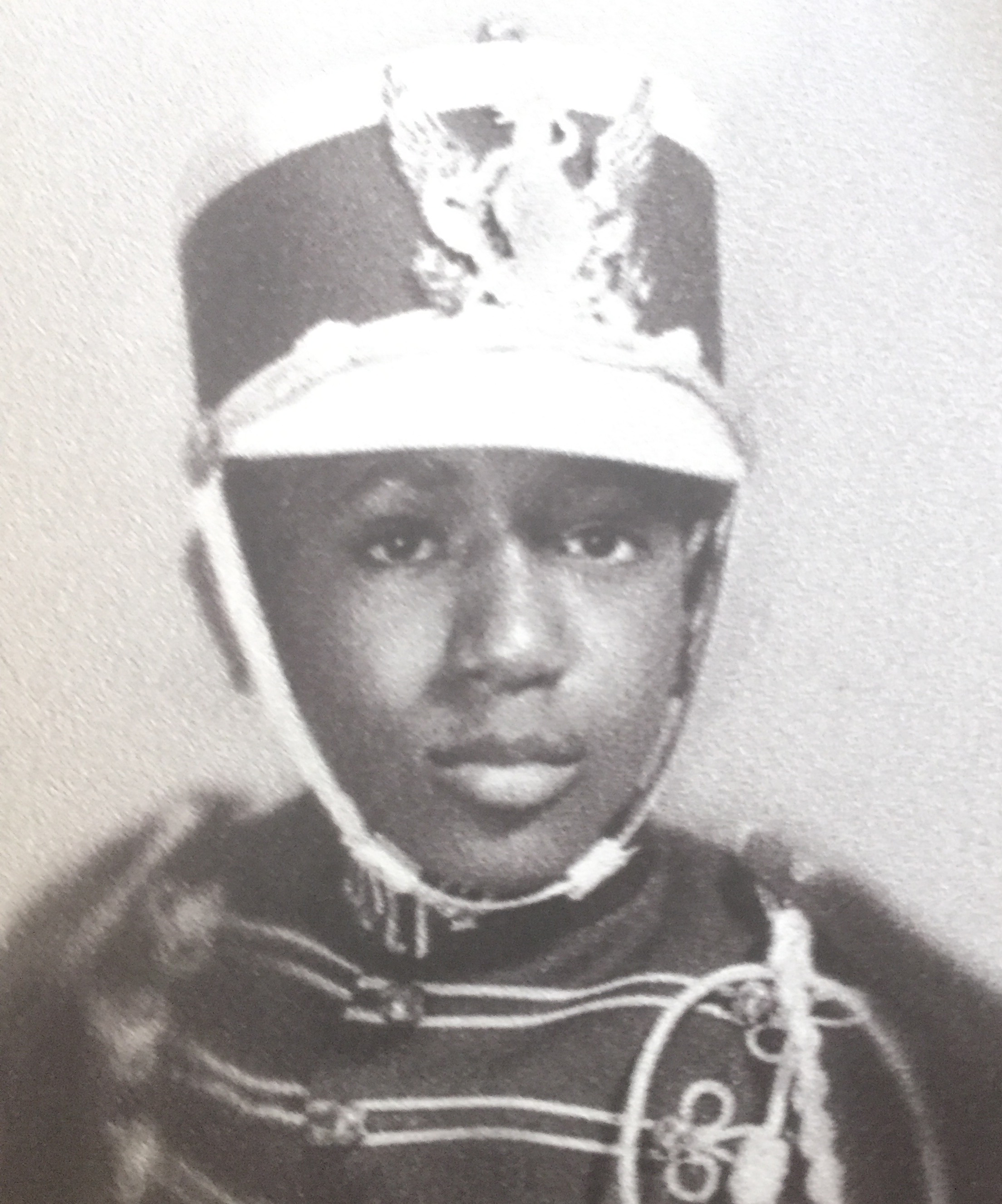 A young Dick Knight in a marching band costume.