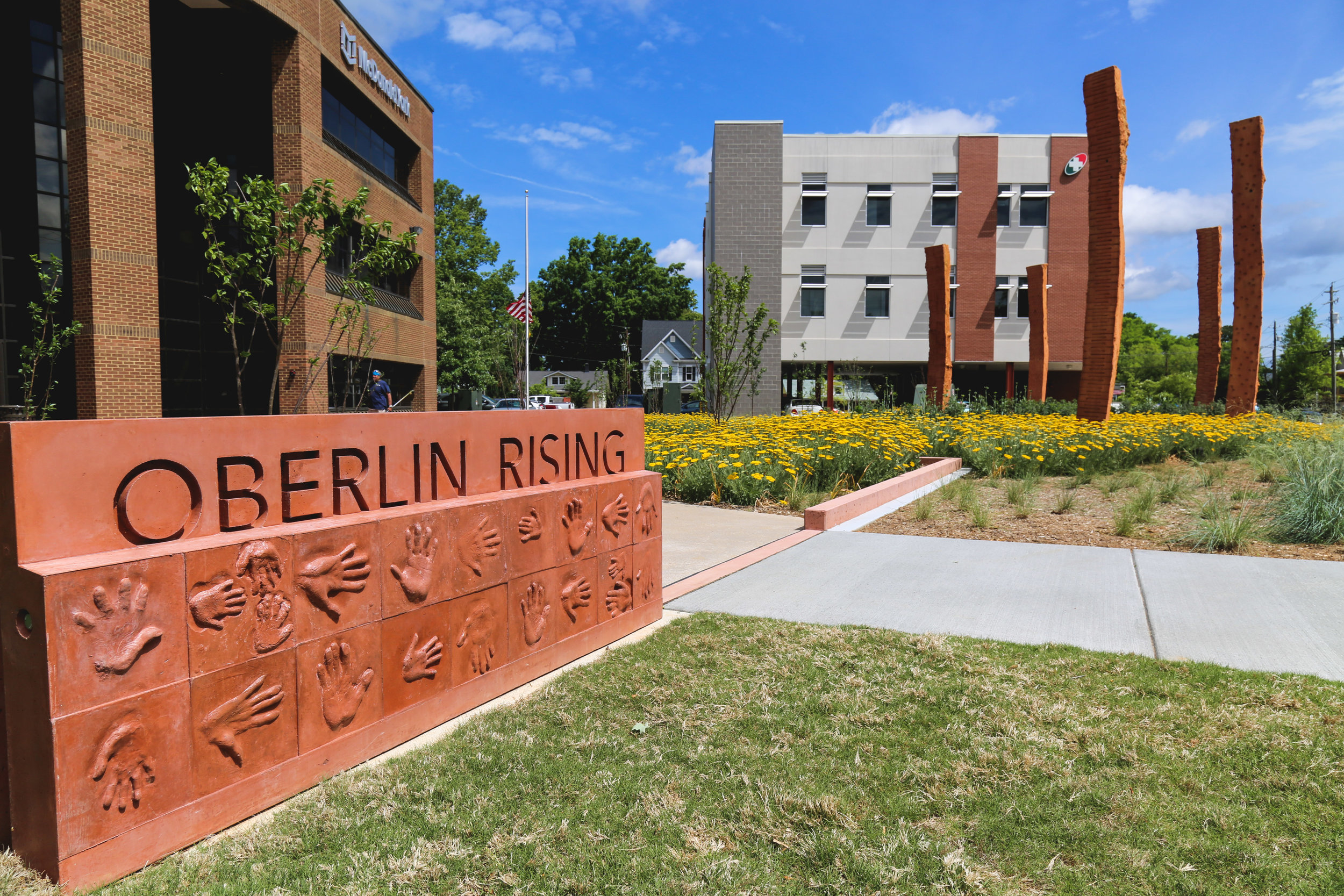 """""""Oberlin Rising,"""" raleigh, nc. This project MEMORIALIZES the historic oberlin community which was established after the civil war by freed slaves."""