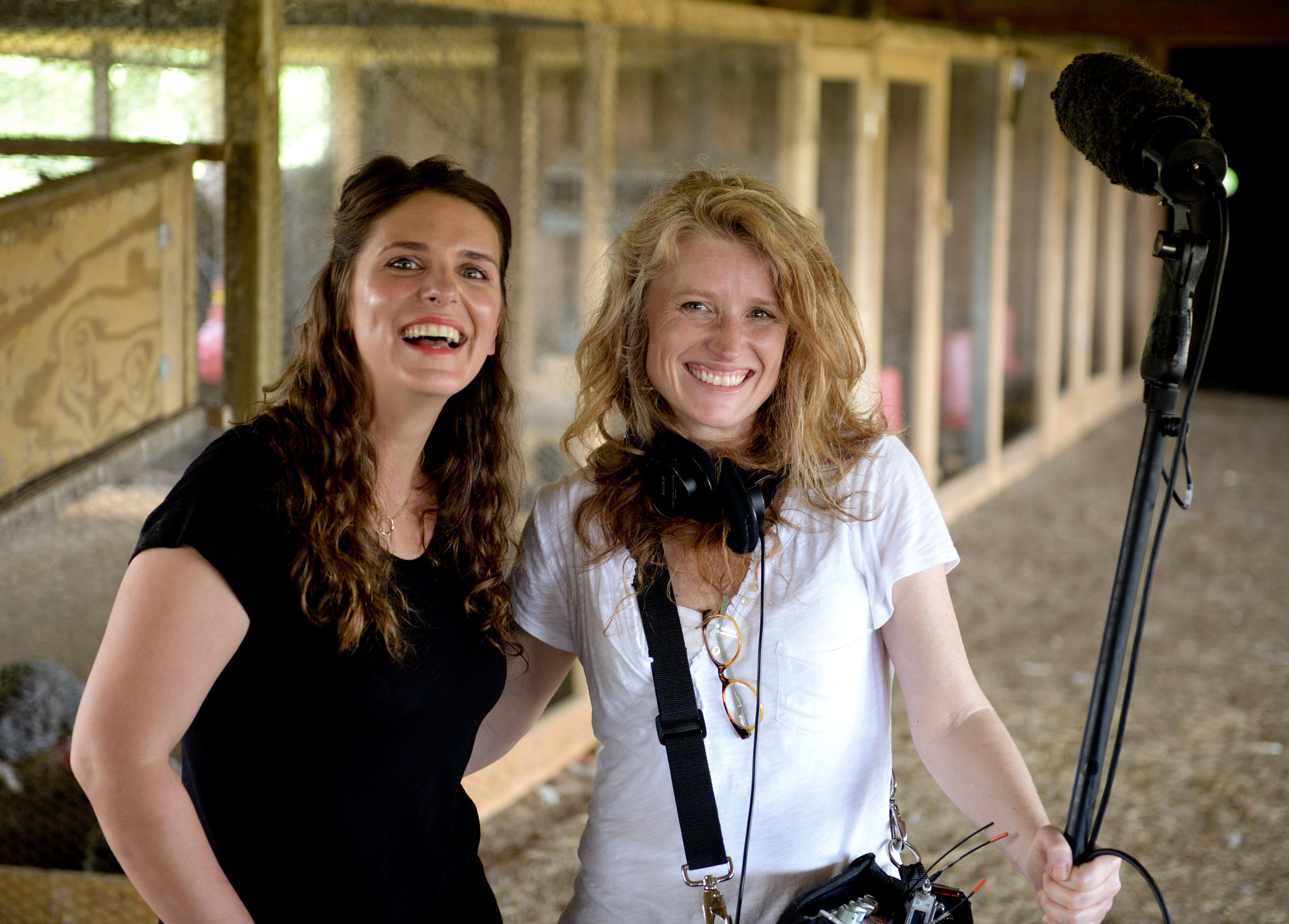 "Vivian Howard, star of ""A Chef's Life,"" with Cynthia Hill. Photo by rex miller"