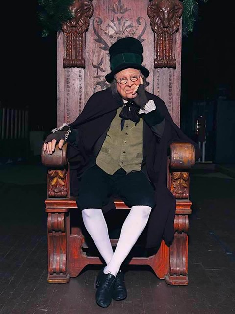 ira david wood as scrooge in his adaptation of  a christmas carol