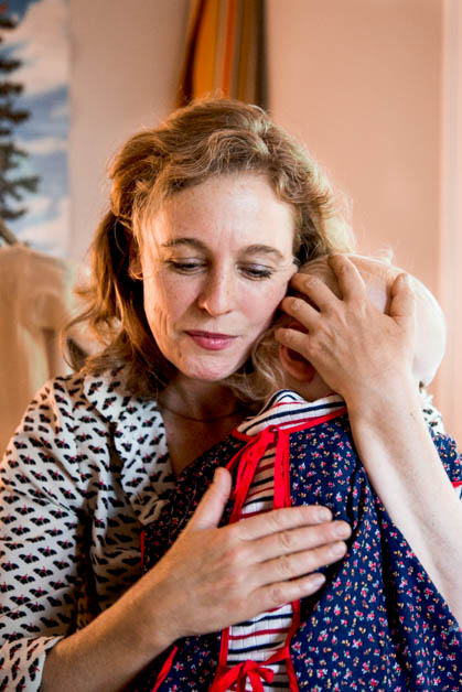 Tift Merritt pictured with her daughter Jean. June 2018. | Photo by Sandra Davidson