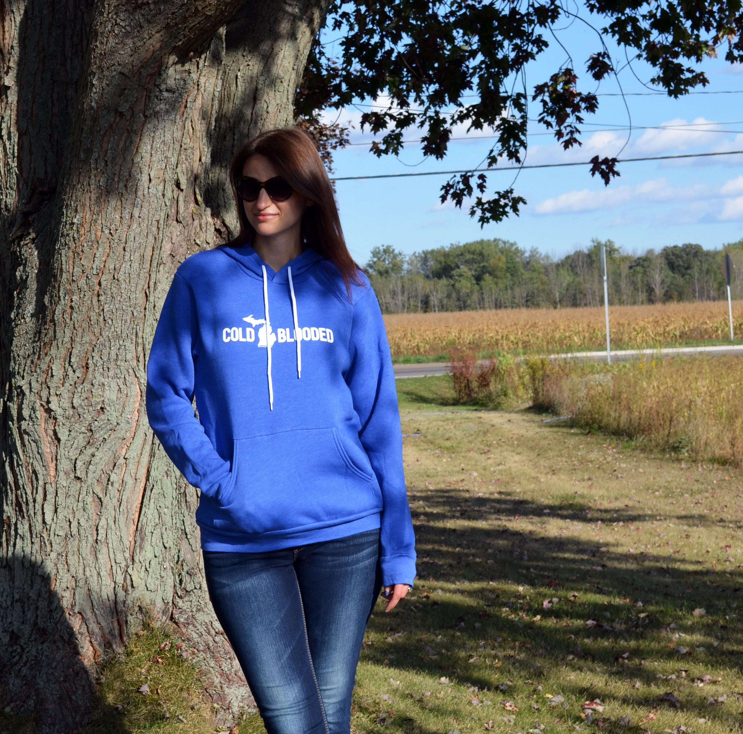 Cold Blooded Unisex Hoodie, Hooded Sweatshirt, Michigan apparel, Michigan hoodie, Michigan winter, Michigan fall, autumn, fall fashion, winter fashion, casual style
