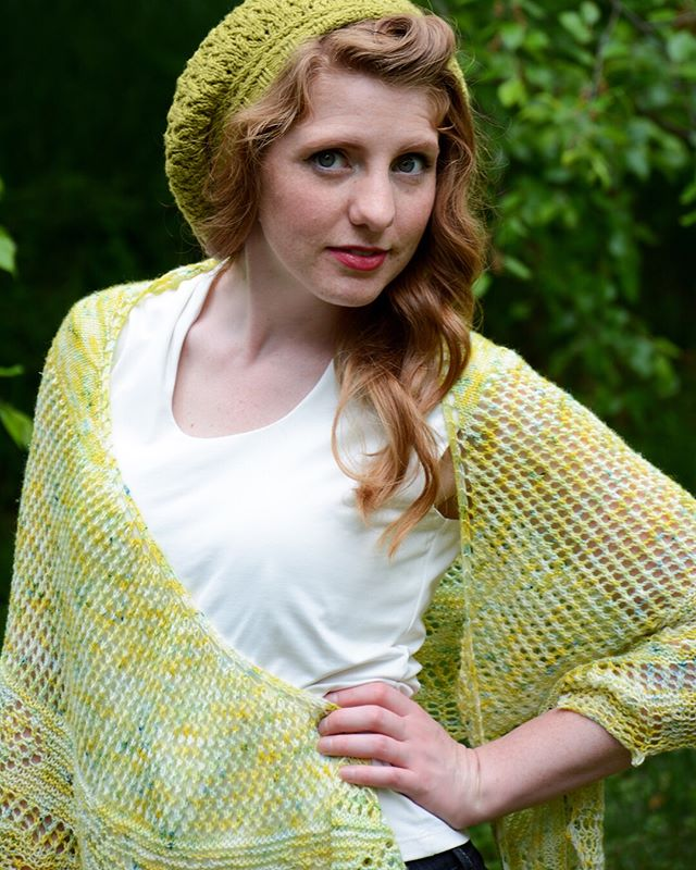 A lacy mesh crescent shawl is my favorite summer shawl for wrapping up in. It pairs so well with everything from jeans to a summer dress. The Lemon Verbena shawl is live now and you can get it for less than $5 until Sunday no coupon code needed. Or you can get three shawls from the Herbed collection for $12. (swipe to see) Use code 3SHAWLS & previous purchases apply! . This shimmer yarn is from @theyarnathomemom The vibrant green is from @dreamincoloryarn . #naomigraceknits #shawlbundle #laceknitting #knittersofinstagram #iloveknitting #knittingaddict #herbedtheseasoningsoflife #summerknitting #naomigracedesigns