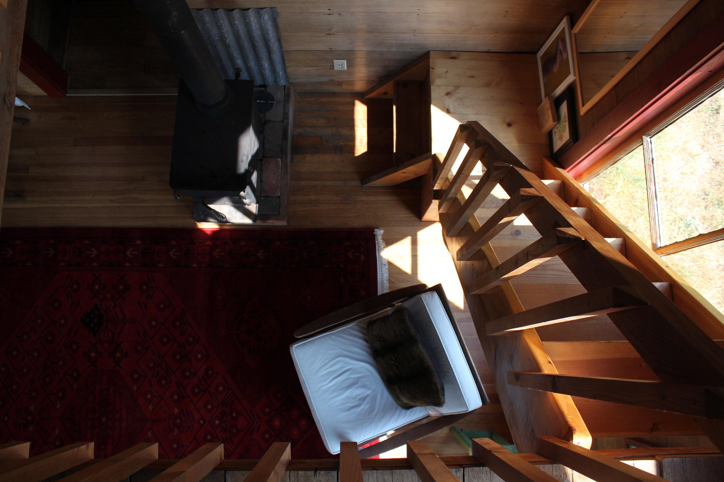 interior living room at plum nelli homestead cabin.JPG