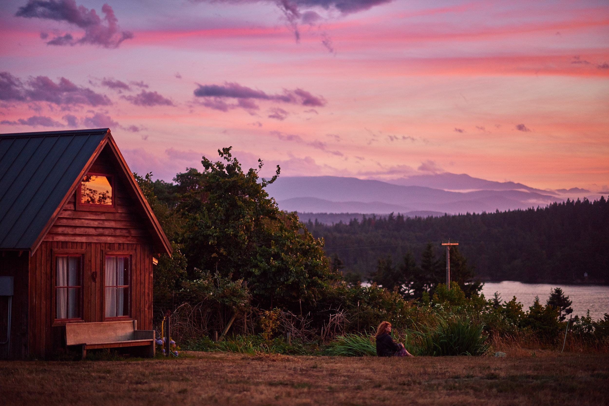 sunset on the puget sound with plum nelli cabin.jpg