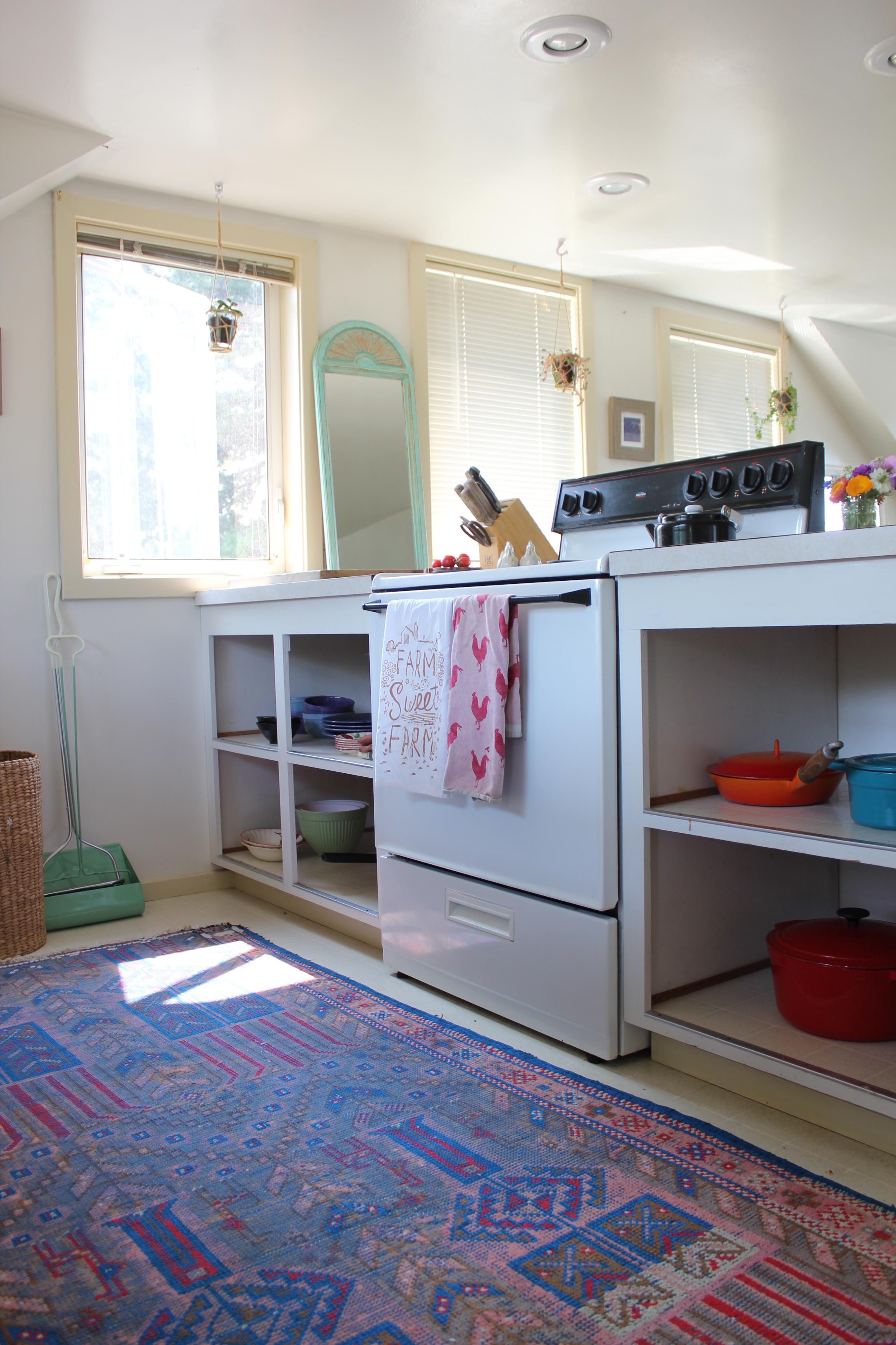 colorful farm kitchen in loft studio at plum nelli.JPG