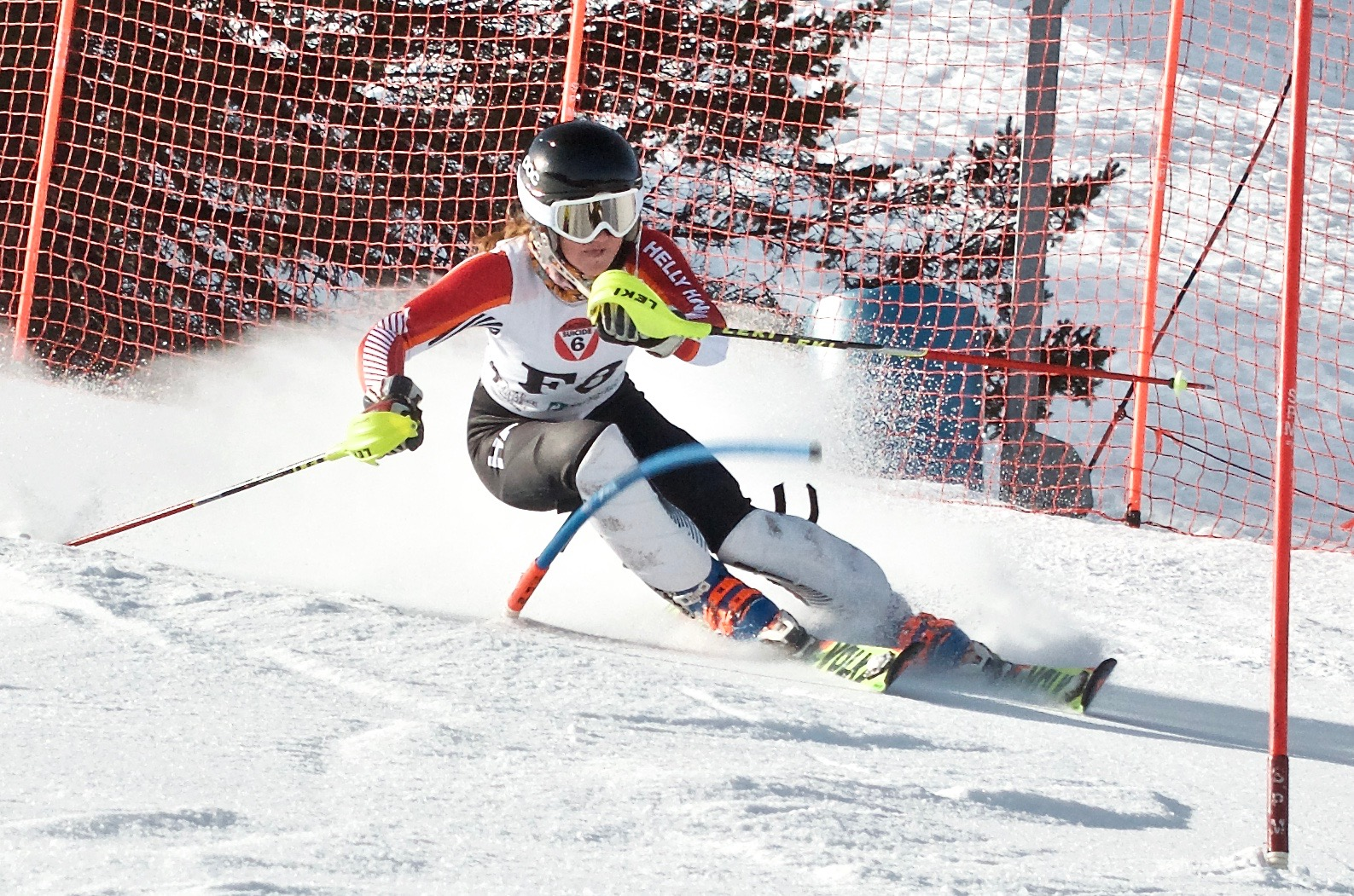 Kelly Gebhardt solidified her sixth place overall VT Cup standing with two strong SL performances at Bromley and one on her home hill at Suicide 6.