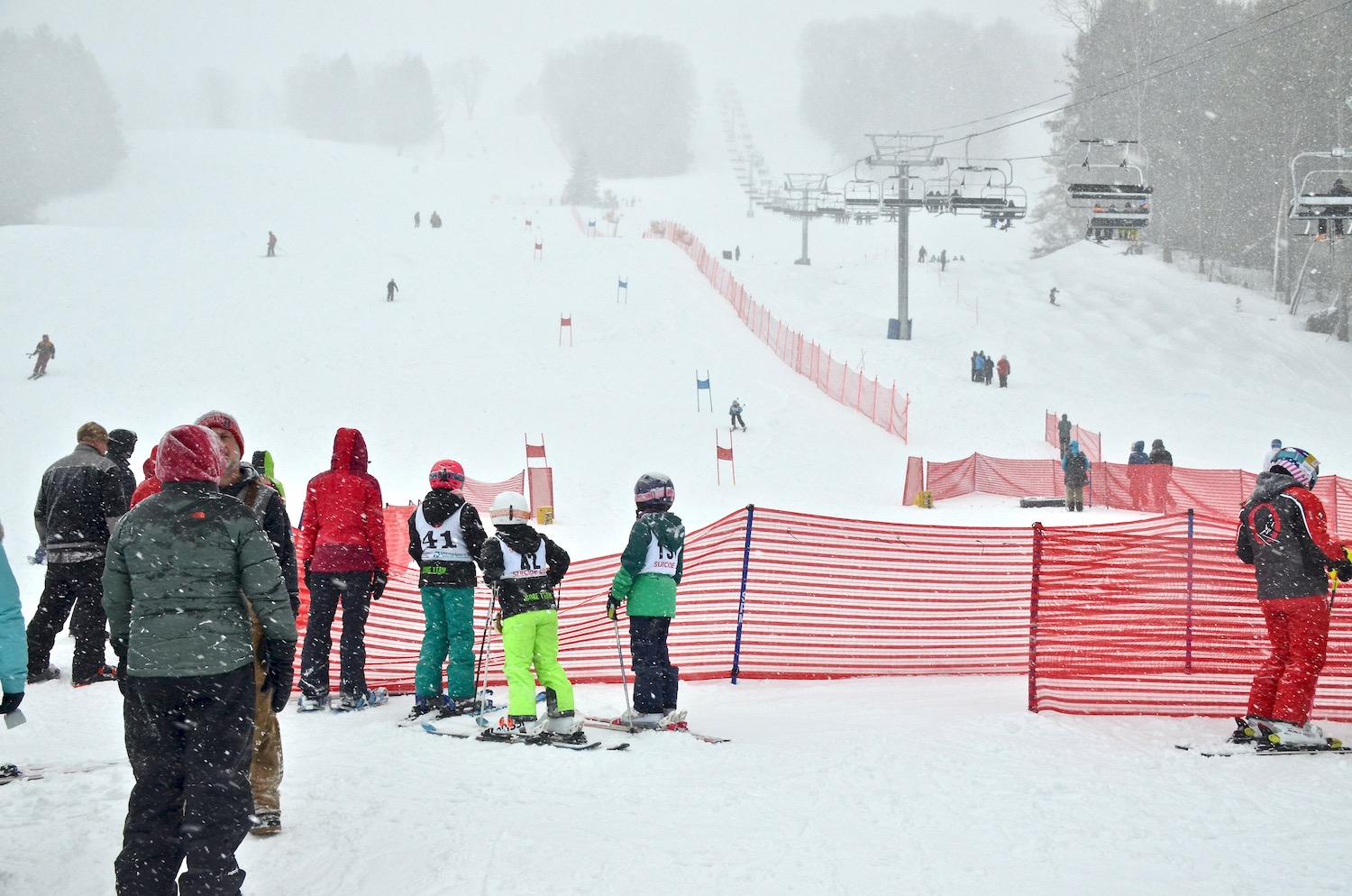 The race course and the moguls course were side by side - easy viewing for all the spectators.