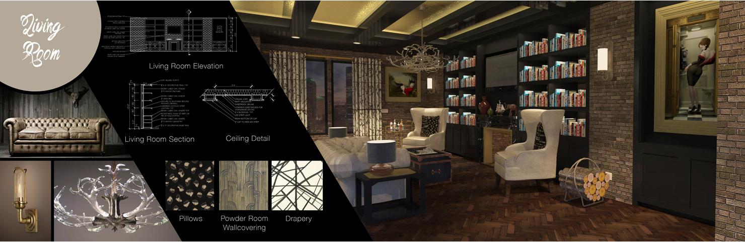Industrial Masculine Living Room