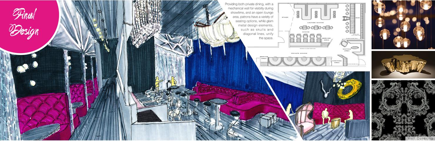 Glam Metal Restaurant Interior Design