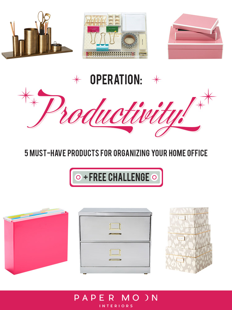 Whether or not you work from home or not, home offices are becoming a household staple. And they can become a hot mess if they aren't kept in check! Check out these five simple products to take organizing your home office from dumpy and scattered to neat and sleek!