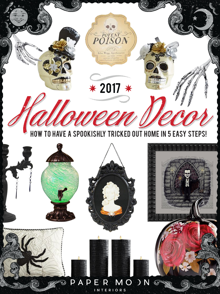 It's that time of year;are you ready? While I know some that break out their holiday decorations on July 5th, I'm pretty sure most of us are just now starting to think about the fall season. So I've rounded up my favorite Halloween décor ideas for 2017, perfect for anyone that wants their home to look trick-or-treat ready without the tacky!
