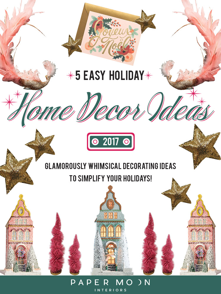 The winter months are perfect for cozying up in front of a fire, sipping on some mulled wine, and decking those halls to get yourself full of holiday cheer! But I know not many of us have the time to go all out with our holiday home décor, so this week I'm sharing five simple ways to get your home from Scroogefest to jingling all the way!