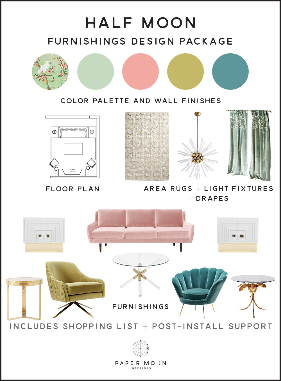 Paper Moon Online Interior Design Services Half Moon Furniture Package