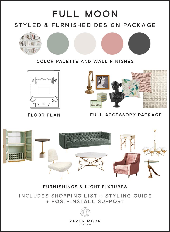 Online Interior Design Services Furnished Package