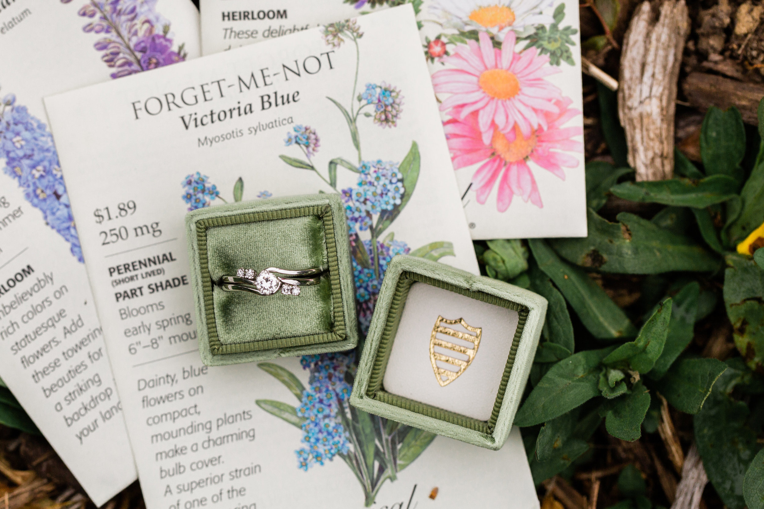 Kim's heirloom ring, in a #MrsBox as photographed by True Grace Creative