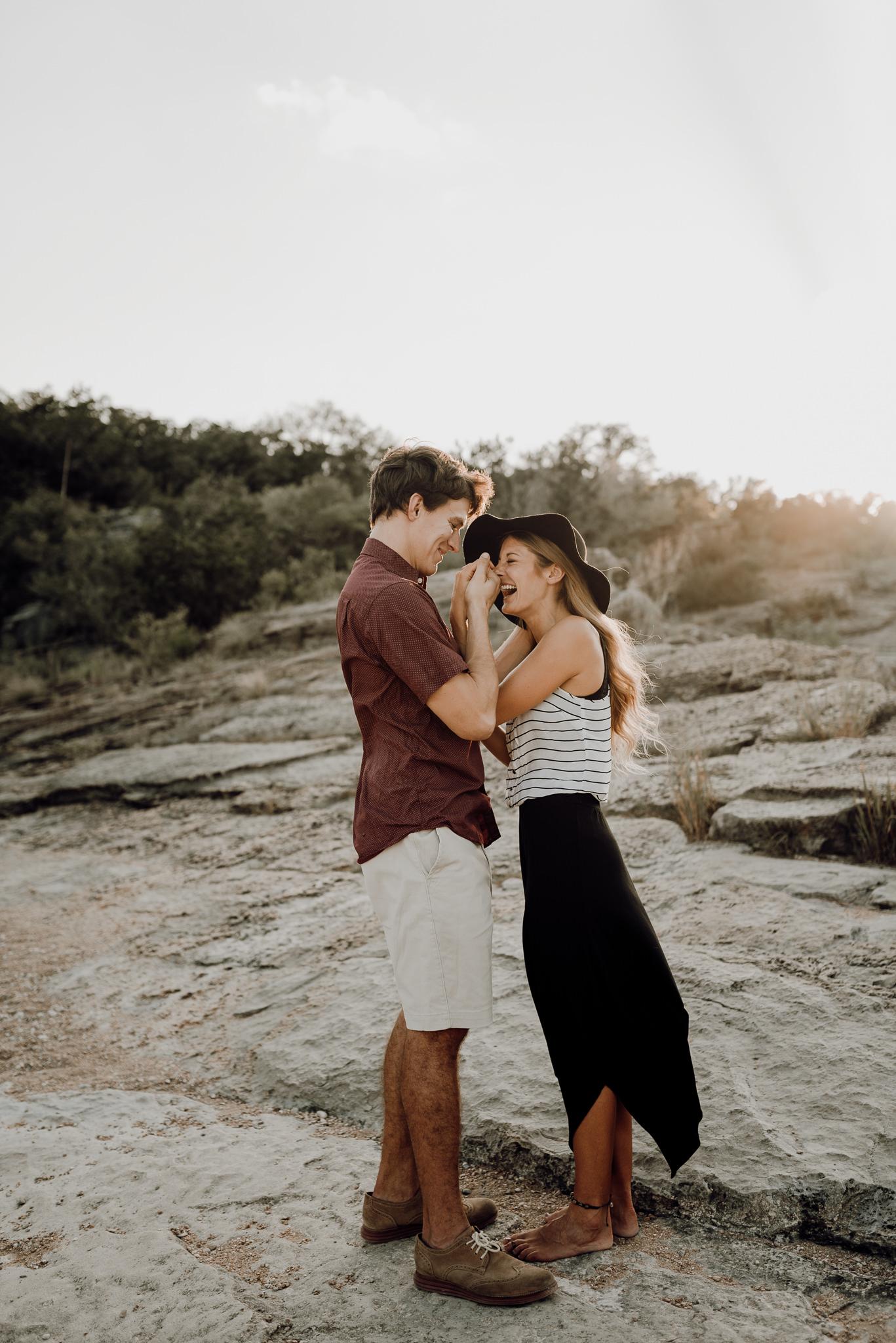 Michelle + Aron   Pederbales Falls Texas Engagement  Kristen Giles Photography - 028.jpg