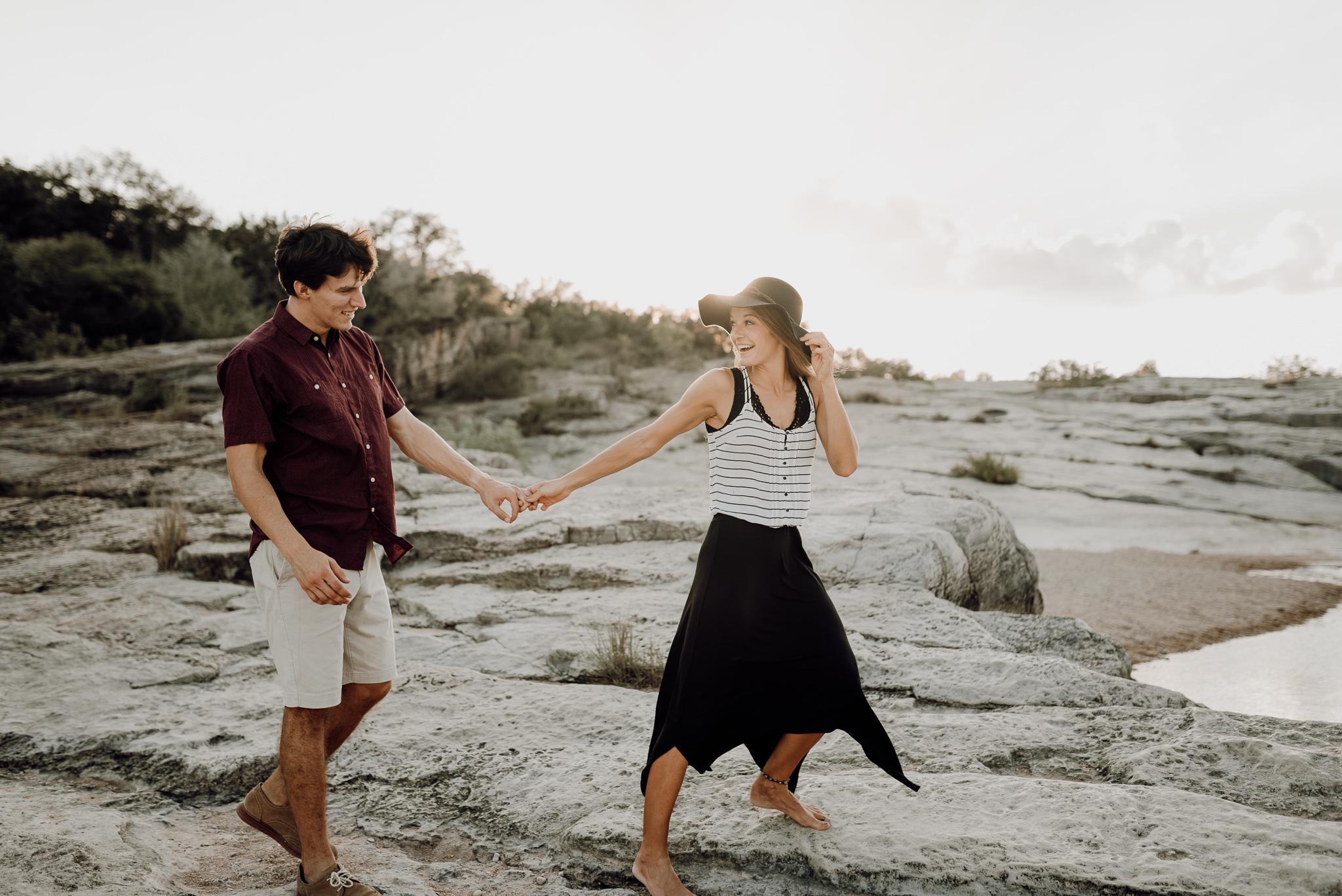 Michelle + Aron   Pederbales Falls Texas Engagement  Kristen Giles Photography - 030.jpg