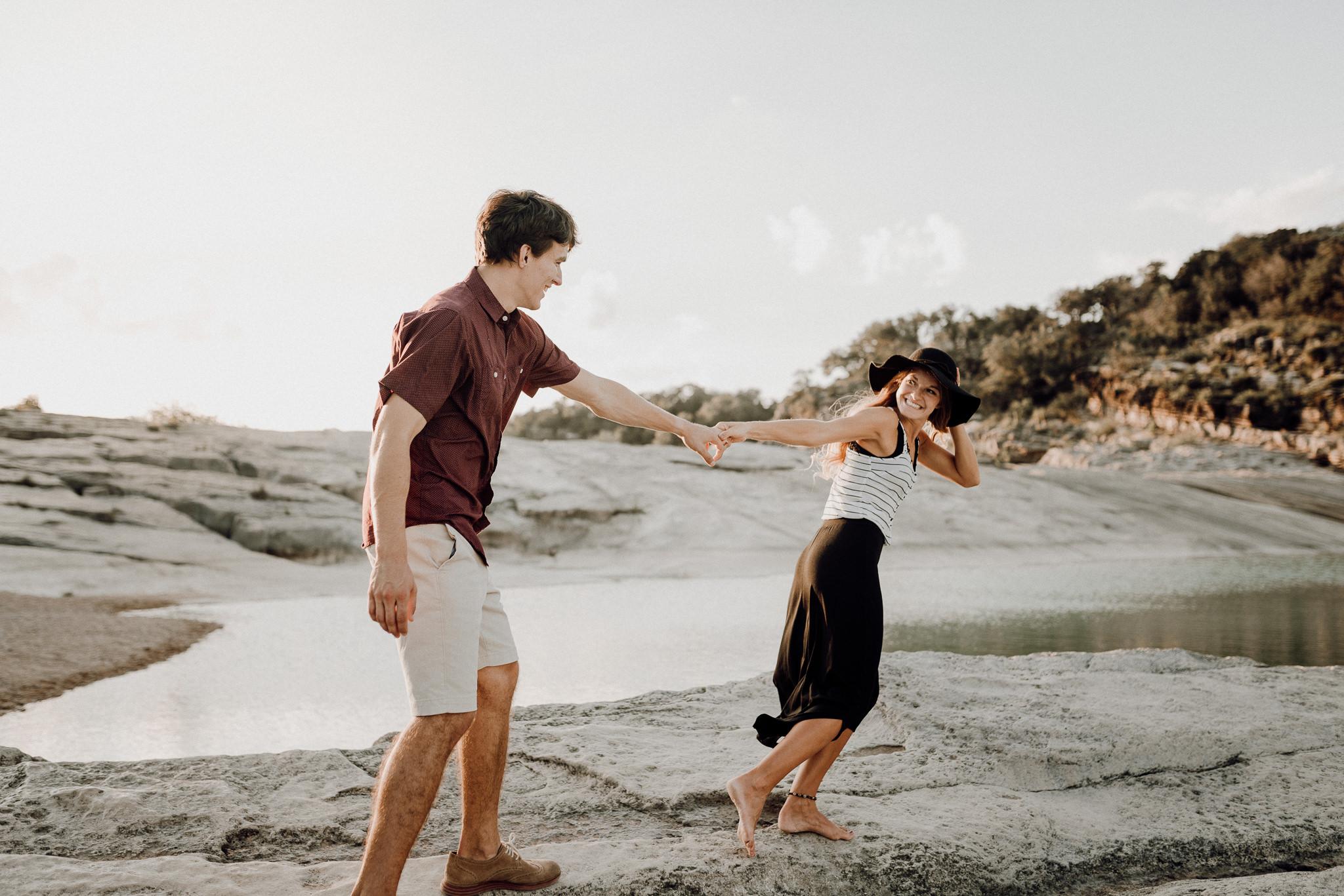 Michelle + Aron   Pederbales Falls Texas Engagement  Kristen Giles Photography - 032.jpg