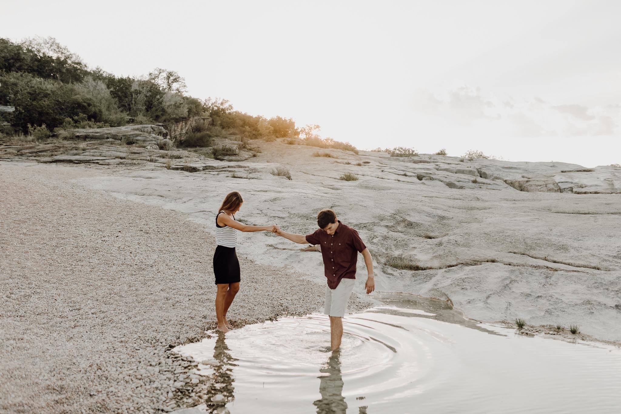 Michelle + Aron   Pederbales Falls Texas Engagement  Kristen Giles Photography - 057.jpg