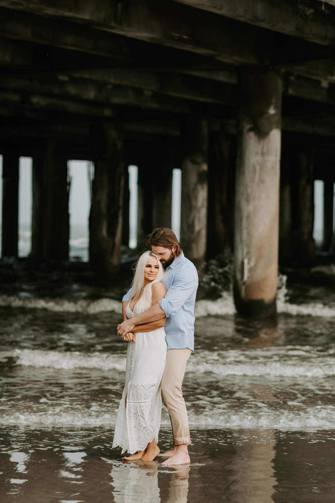 Ashley + Charles - Galveston Texas Moody Engagement Session | Kristen Giles Photography - 017.jpg