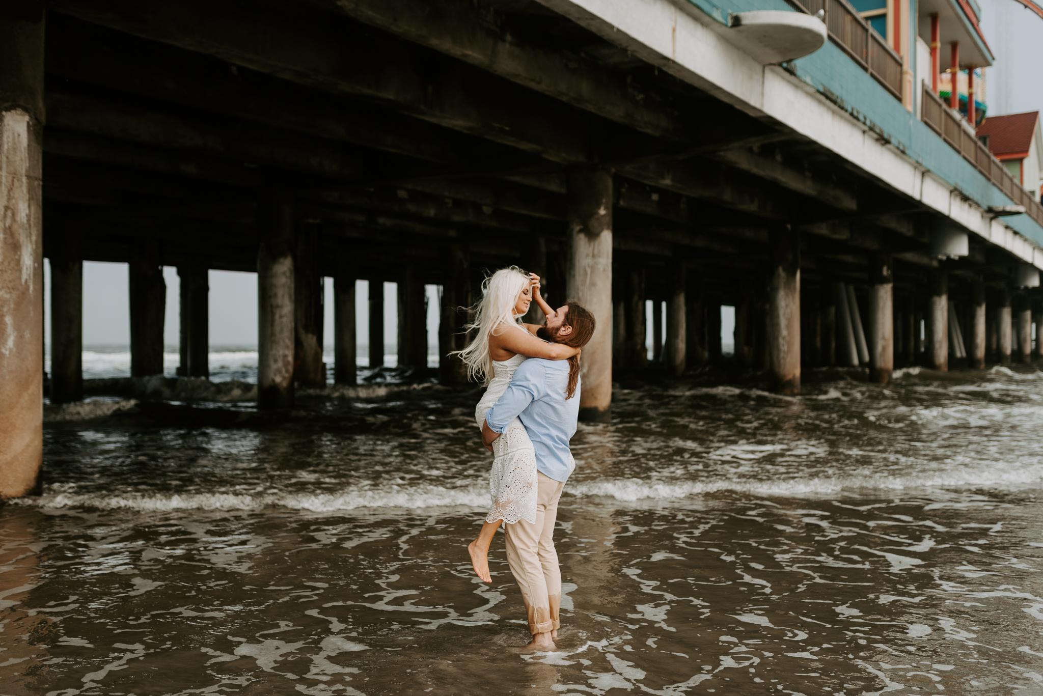 Ashley + Charles - Galveston Texas Moody Engagement Session | Kristen Giles Photography - 021.jpg