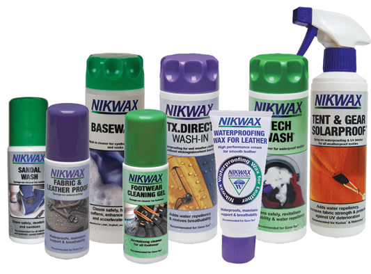 NIKWAX  Waterproofing for Apparel & Gear