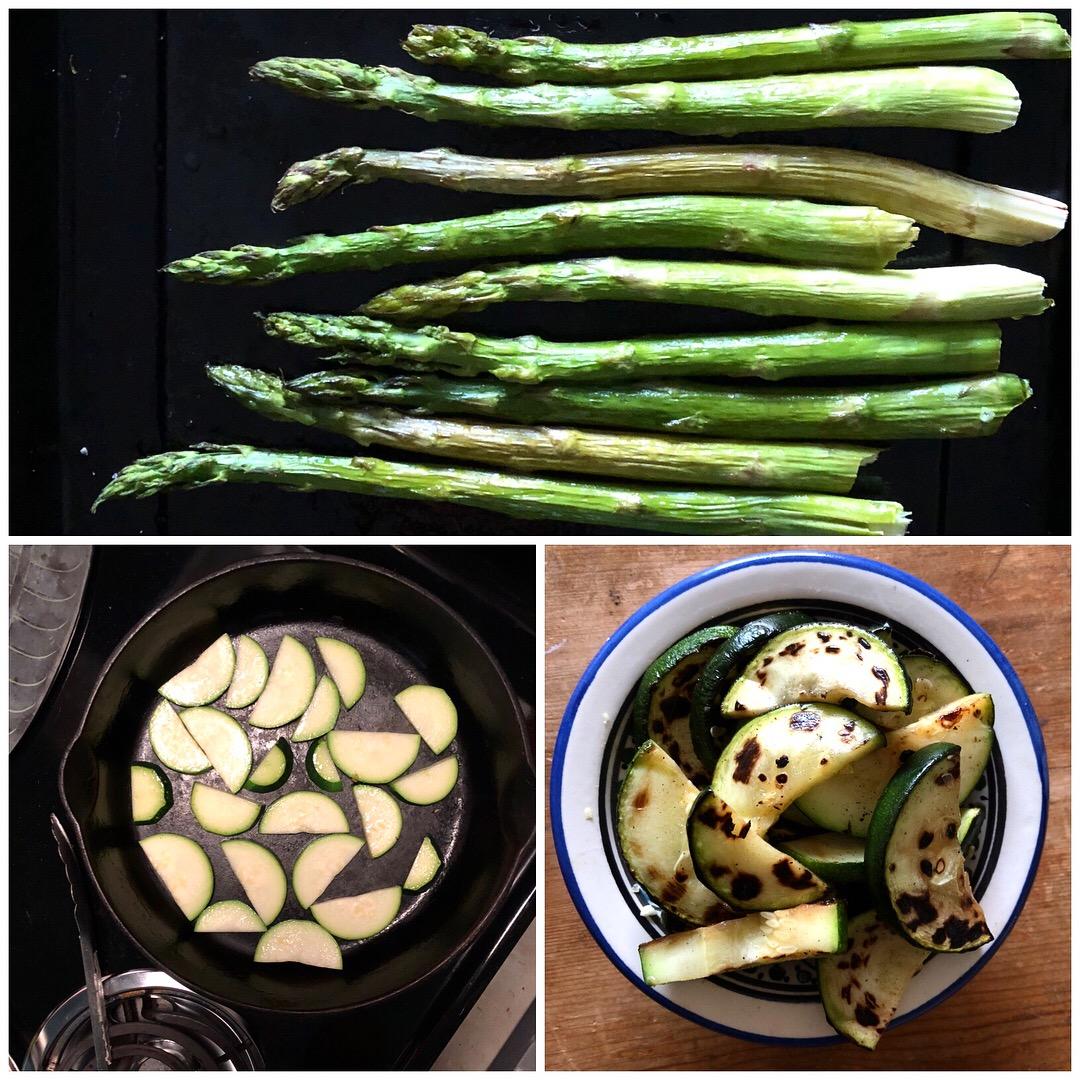 asparagus and zucchini