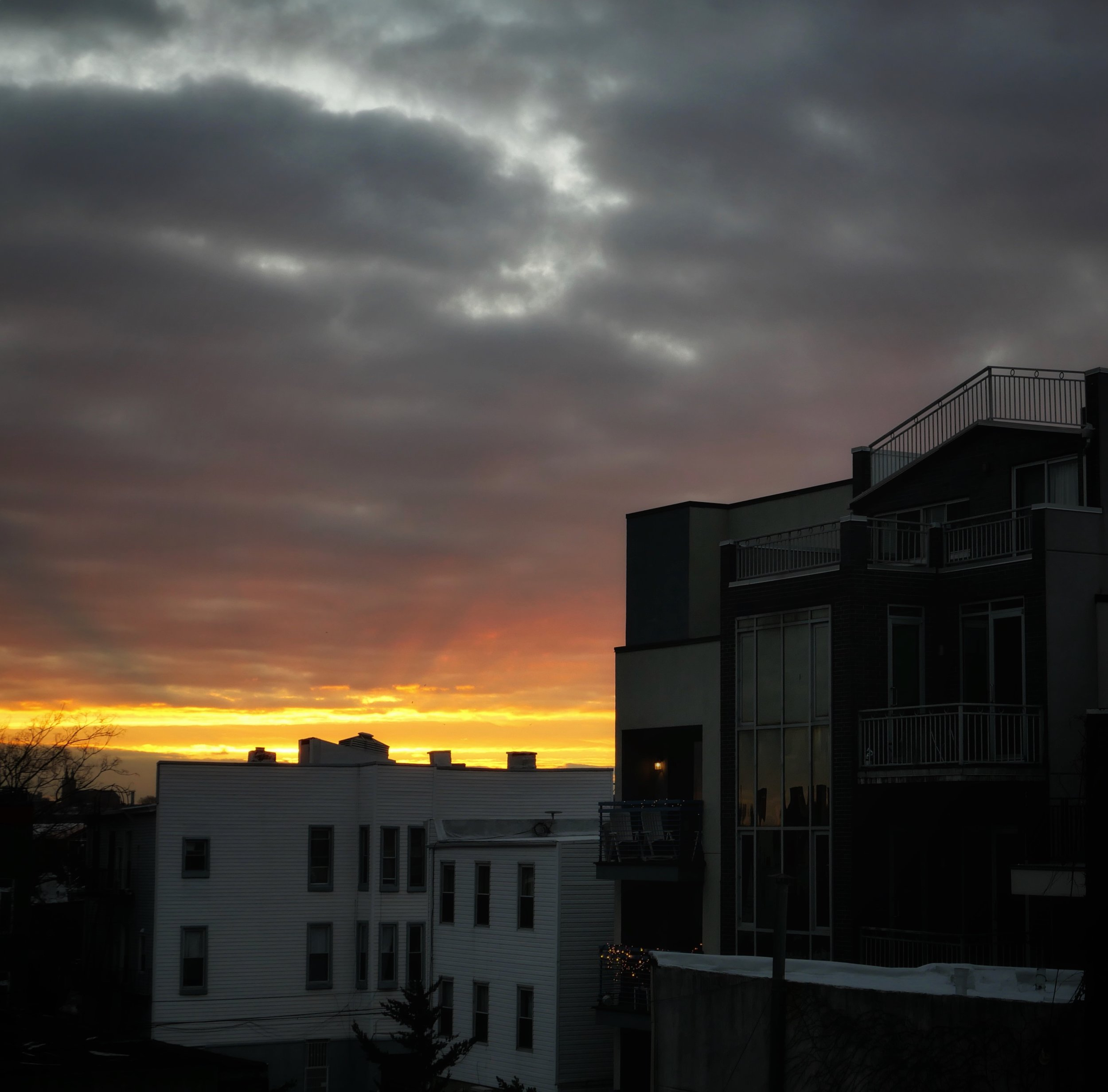 morning meditation: east williamsburg sunrise