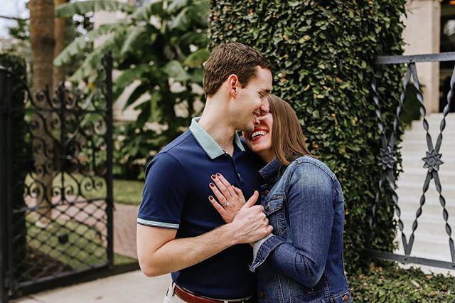 They both went to Duke Divinity School... say whaaa?! 🔥⁣ ⁣ Yep. Trust me I know, they're the dream team.⁣ ⁣ I love these two because they're fun, hilarious, & SO attentive to others. It was the biggest joy to capture their love story in a quiet little boutique restaurant over the San Antonio riverwalk. ⁣ ⁣ Ps I can't FREAKIN' wait till they move to Texas 🙌🏼 🏡 ⁣ ⁣