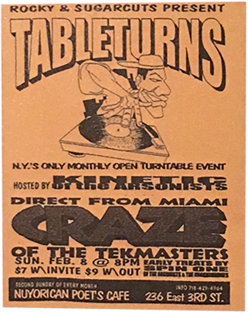 Image from  No Sleep: NYC Nightlife Flyers 1988-1999  by DJ Stretch Armstrong