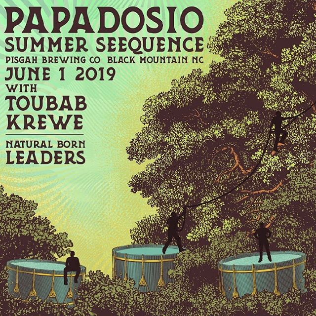 STACKED lineup for @papadosio's Summer Seequence this June 1 at @pisgahbrewing! @naturalbornleadersband just added ✊🌴☀️
