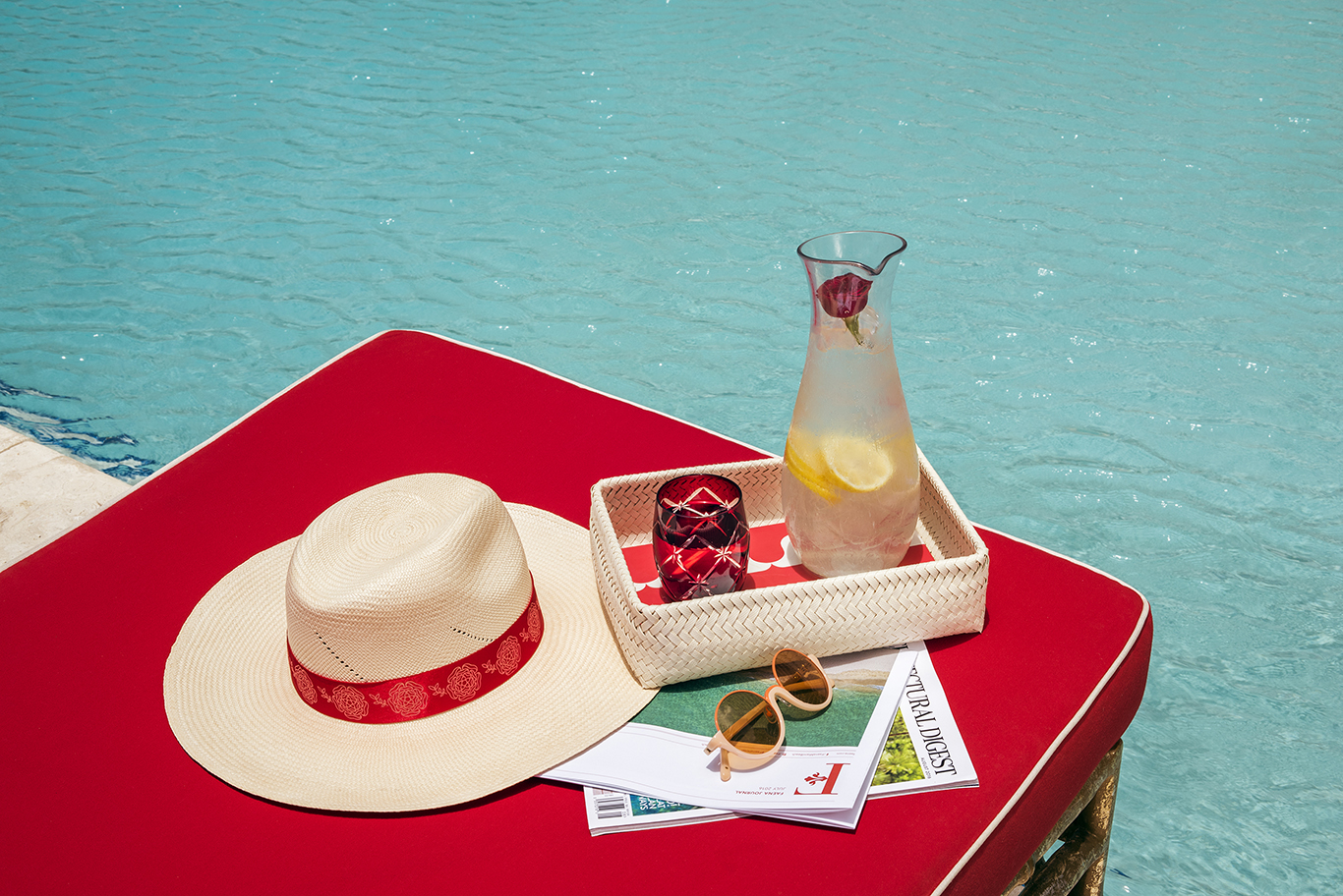 Faena Pool_ Iced Water and Faena Hat_Photo by Juan Fernando Ayora.jpg